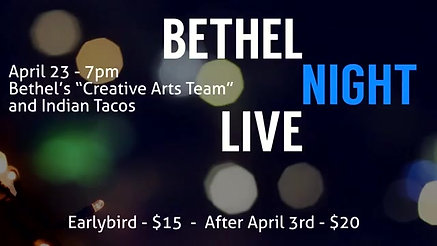 Ad 1 for Bethel Night Live 2016