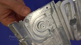 Zinc hot chamber high pressure die casting part twofold mould