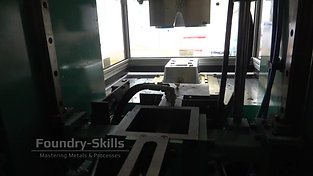 Wax injection molding machine interior view from the backside