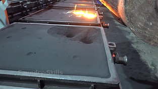 Casting line with iron casting