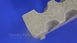 Impact test of an inorganically bonded sand core