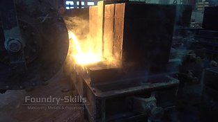 Casting gas development of an iron casting