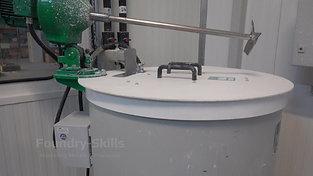 Preparation mixer for slurry