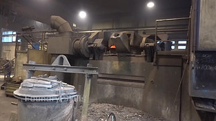 Front view induction furnace