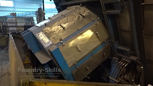 Fully tilted induction furnace