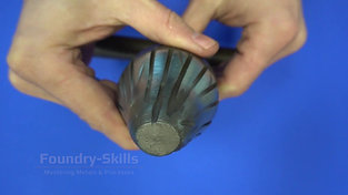 Hand drill for the sprue in sand casting