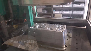 Wax injection molding machine side view