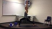 Core Strength Vinyasa Flow toward Crane Pose