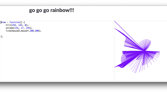 9 yr old Go Go Rainbow