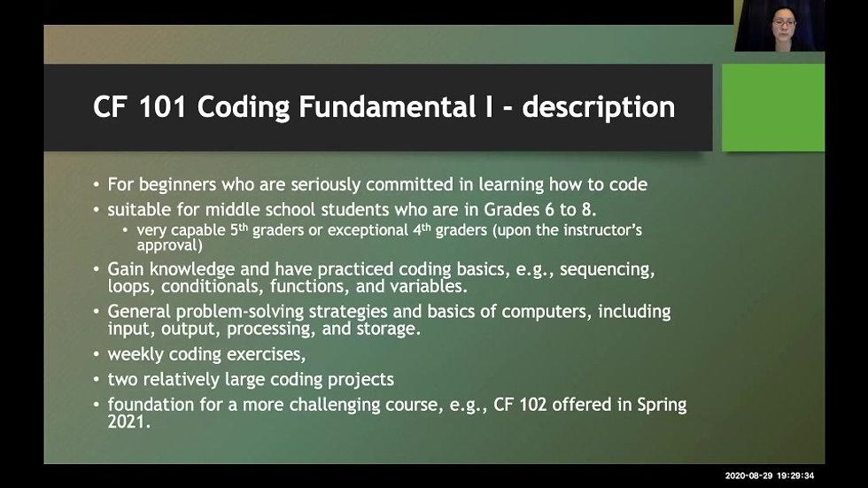 WF Coding Seminar 2020-08-29