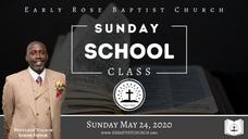 Sunday School: May 24, 2020