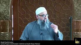 Jumma Prayers | 2nd Khutbah | 16.04.21