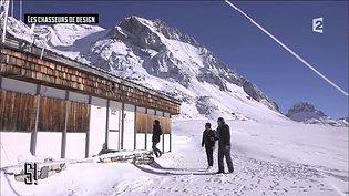"""1974. JEAN PROUVE """"refuges du Col de la Vanoise"""""""