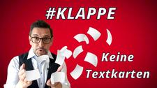 #KLAPPE Keine Textkarten