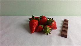 Schokoriegel oder Erdbeeren