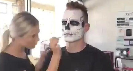 Male Halloween Skull Makeup