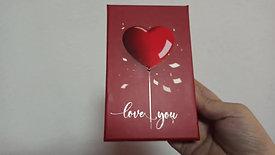 Hediye kutusu kırmızı kalp set
