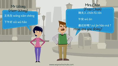 Chinese for beginners - greetings 2