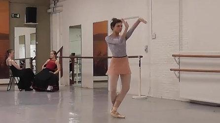 Carmen ballet rehearsal