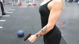 HAMMER GRIP FRONT SHOULDER RAISE WITH HOLD