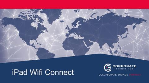 Ipad Wifi Connect