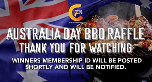 Australia Day BBQ Raffle Livestream