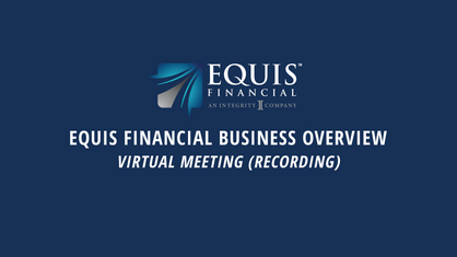 Equis Financial Business Overview | 5-7-2020 | Featuring Nick Theodore