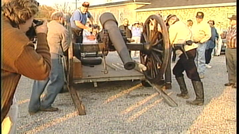 First Public Firing of the Chester 10 Lb Parrott Field Rifle - Nov 8, 1999