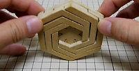 六角形組木「*」