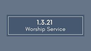 Cayce UMC Service 1/3/2021