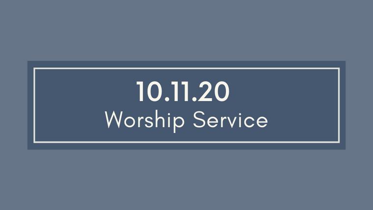 10.11.20  Cayce UMC Worship Service