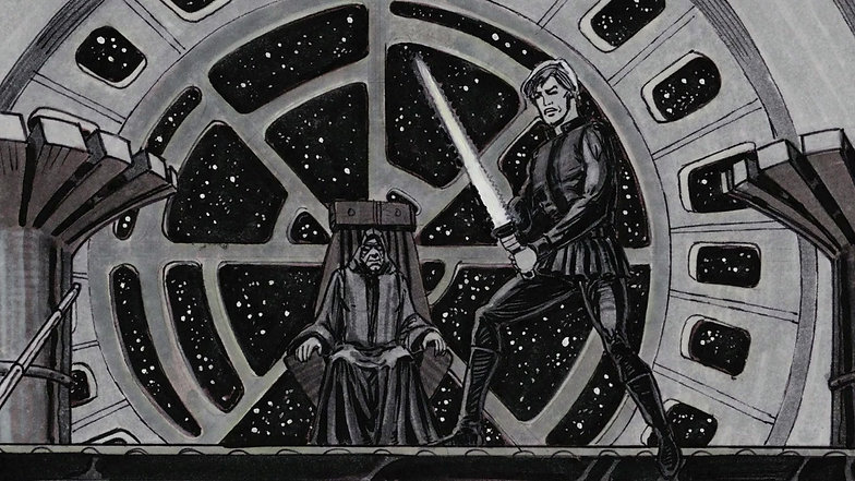 Star Wars storyboards by David Russell