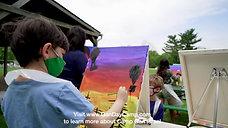 Camp Gan Israel Painting Day