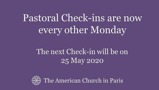 Next Pastoral Check-in