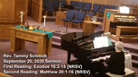 Sermon September 20, 2020