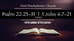 May 2, 2021, Fifth Sunday of Easter