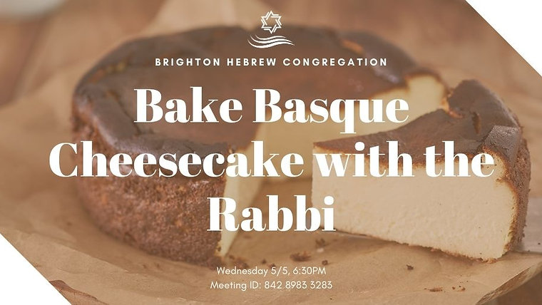 Baking with The Rabbi
