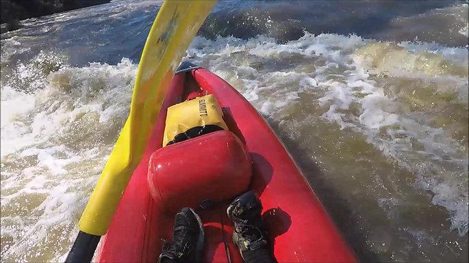 Whitewater kayaking on the Yarra
