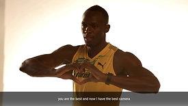 BTS Samsung Usain Bolt