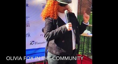 Olivia Fox in the community