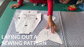 Laying out a Sewing Pattern
