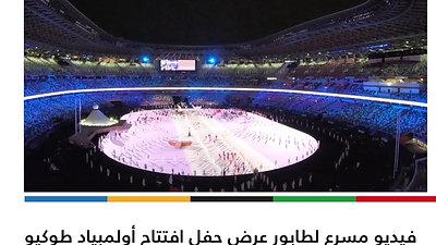 فيديو مسرع لطابور عرض حفل افتتاح أولمبياد طوكيو الذي أقيم في الاستاد الأولمبي بتواجد 206 دولة