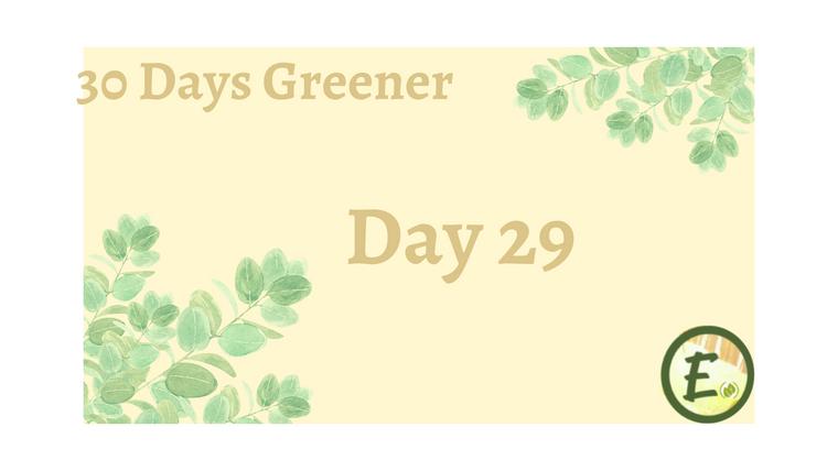 30 Day Greener Challenge