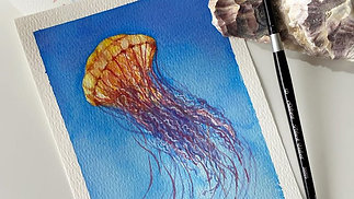 Paint a Jellyfish with Watercolour (Lesson 1)