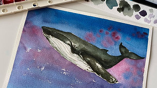 Paint a Whale with Watercolour (Lesson 2)