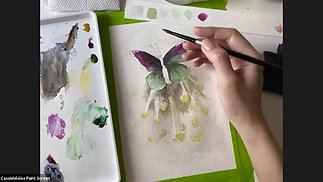 Paint a Butterfly with Watercolour (Lesson 4)