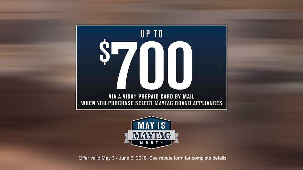 Maytag Month Example