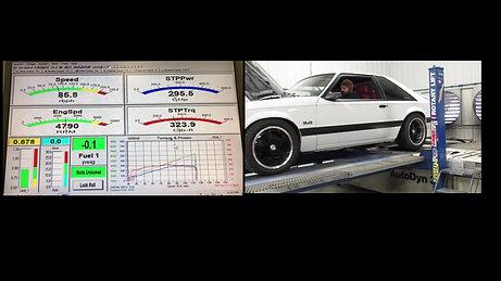 White 89 Mustang Dyno Run 2