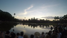 Sunrise over the Angkor Wat Template Complex