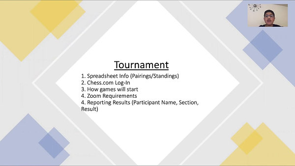 Learn2Chess Tourney Procedures